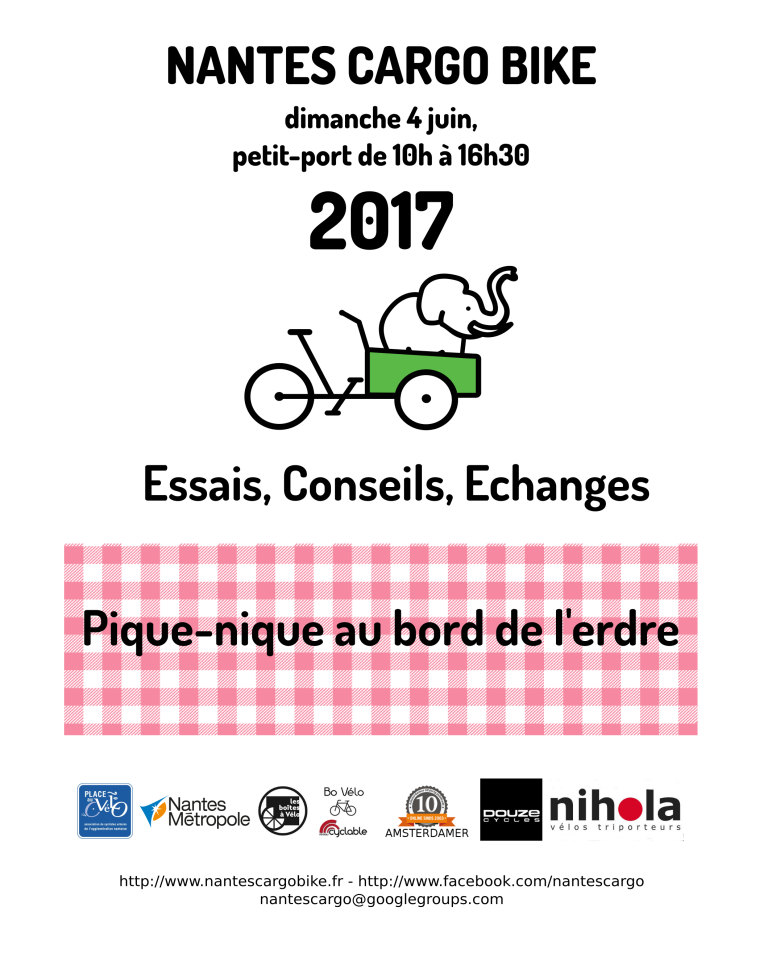 Participez au Nantes Cargo Bike Meeting 2017 !