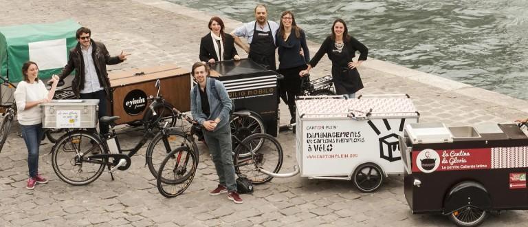 Les vélos cargos sur le Parisien