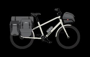 Possibilités de chargement d'un cargobike Benno